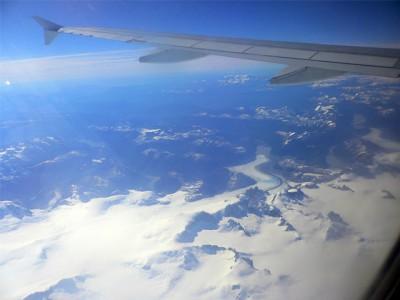 飛行機からのパタゴニア