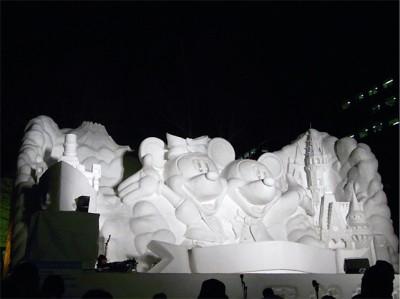 札幌雪まつりの大雪像 北の動物園