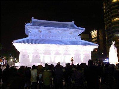 大雪像 韓国・百済王宮