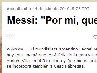 Messi: Por mi, que Maradona siga