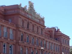 アルゼンチンの大統領官邸カサロサーダ