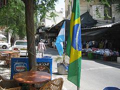 アルゼンチンとブラジルの旗