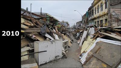 チリの地震直後の様子