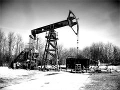 石油採掘の機械