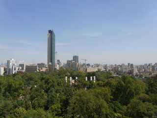 チャプルテペック城から見たメキシコシティ