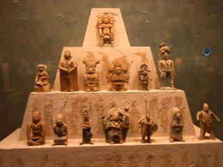 メキシコ国立人類学博物館に展示されていた出土品