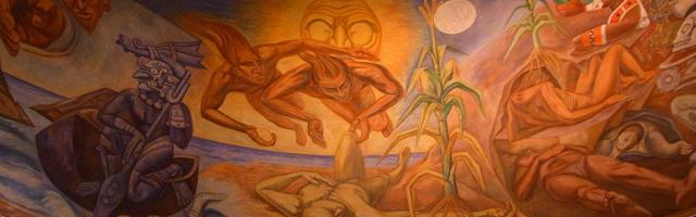 メキシコ国立人類学博物館内にあった絵