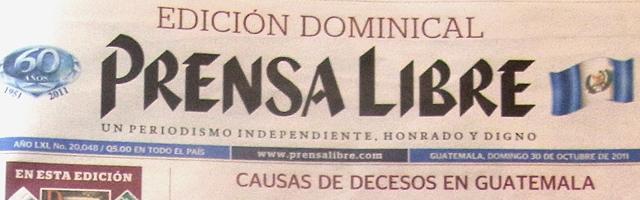 グアテマラの新聞prensa libre