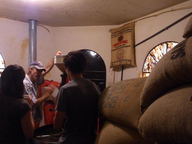 クロス・ローズ・カフェの豆の倉庫