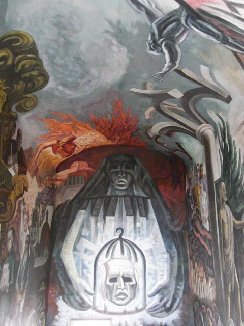 アロンディガ・デ・グラナディータスの中にある壁画