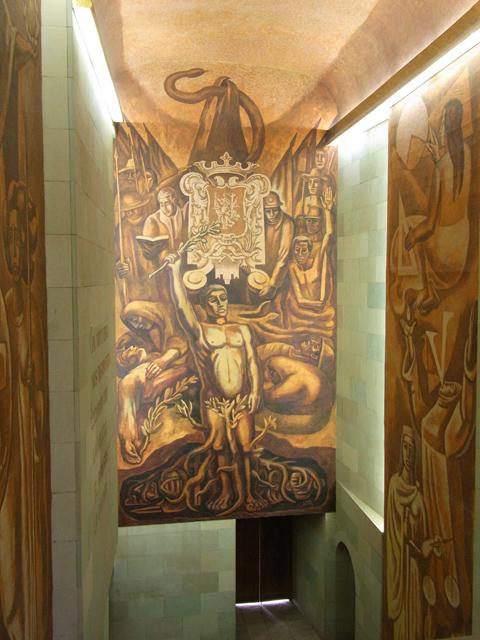 アロンディガ・デ・グラナディータスの壁画