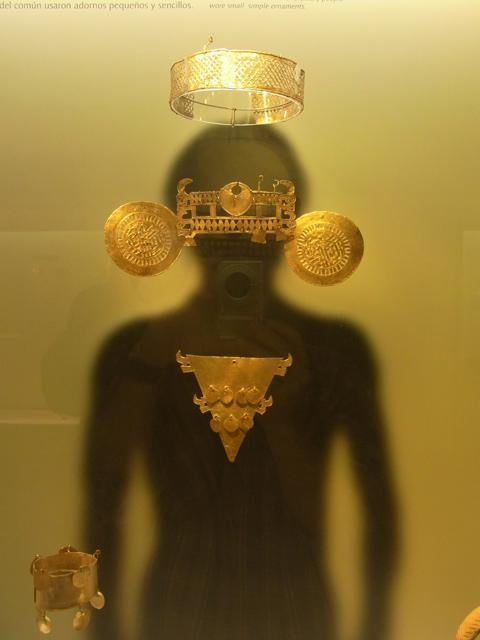 黄金博物館の展示品