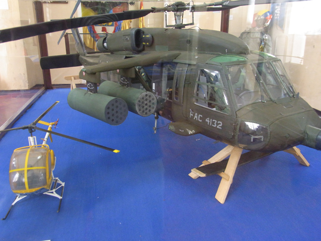 ヘリコプターの模型