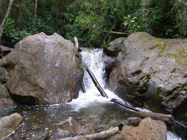 ココラ渓谷にあった滝