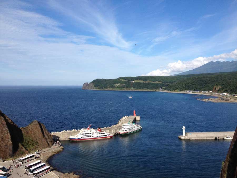 知床観光船おーろらがあるウトロ港