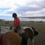 カラファテで乗馬