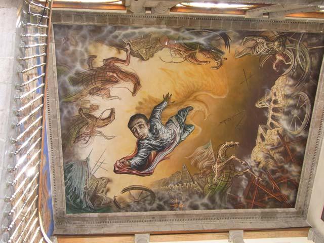 メキシコシティのチャプルテペック城天井画