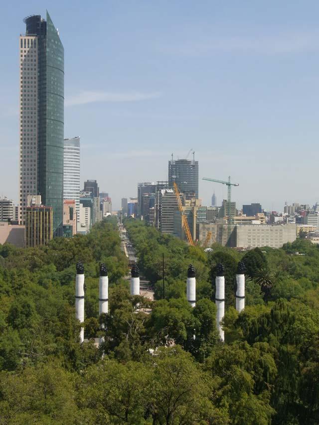 チャプルテペック城から見たメキシコシティの風景