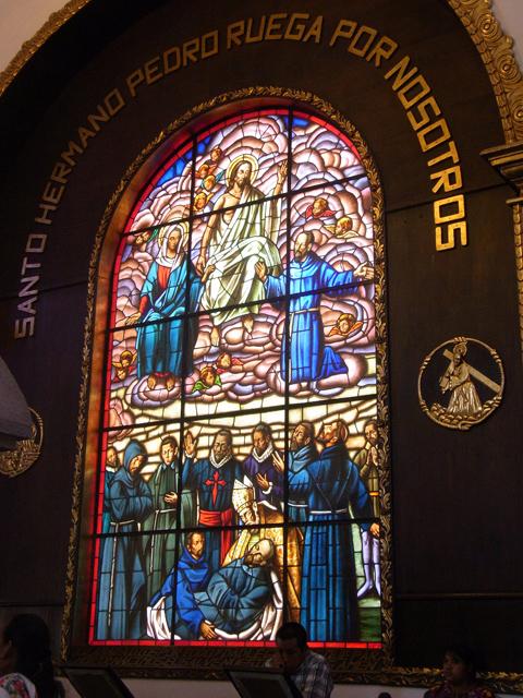 サント・エルマノ・ペドロ墓そばにあったステンドグラス