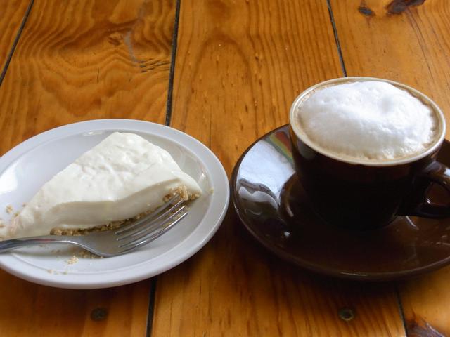 パナハッチェルにあるクロスロードカフェのレアチーズケーキ