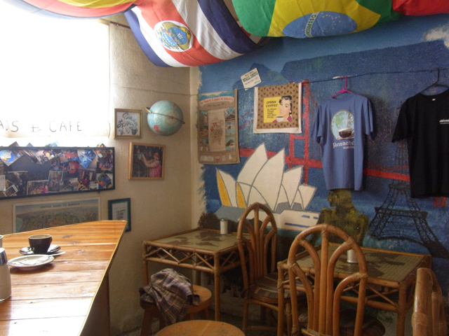 パナハッチェルにあるクロスロードカフェの店内