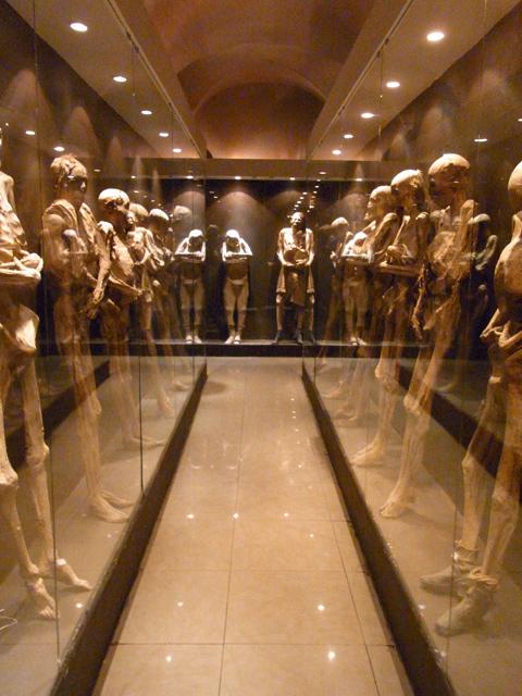 グアナファトのミイラ博物館にあるミイラ