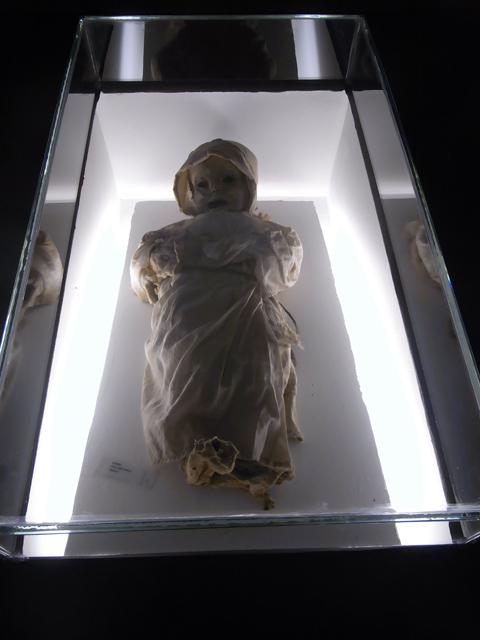 グアナファトのミイラ博物館の赤ちゃんのミイラ