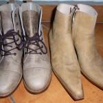 パストーレスで買った2足のブーツ
