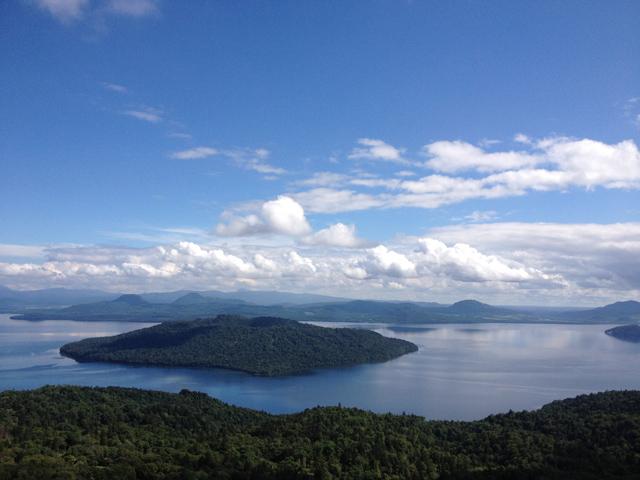 美幌峠からみた屈斜路湖