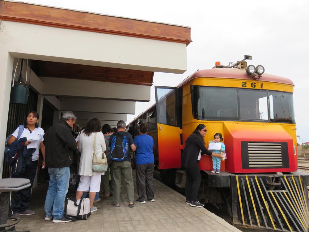アリカから出発したタクナゆきの鉄道