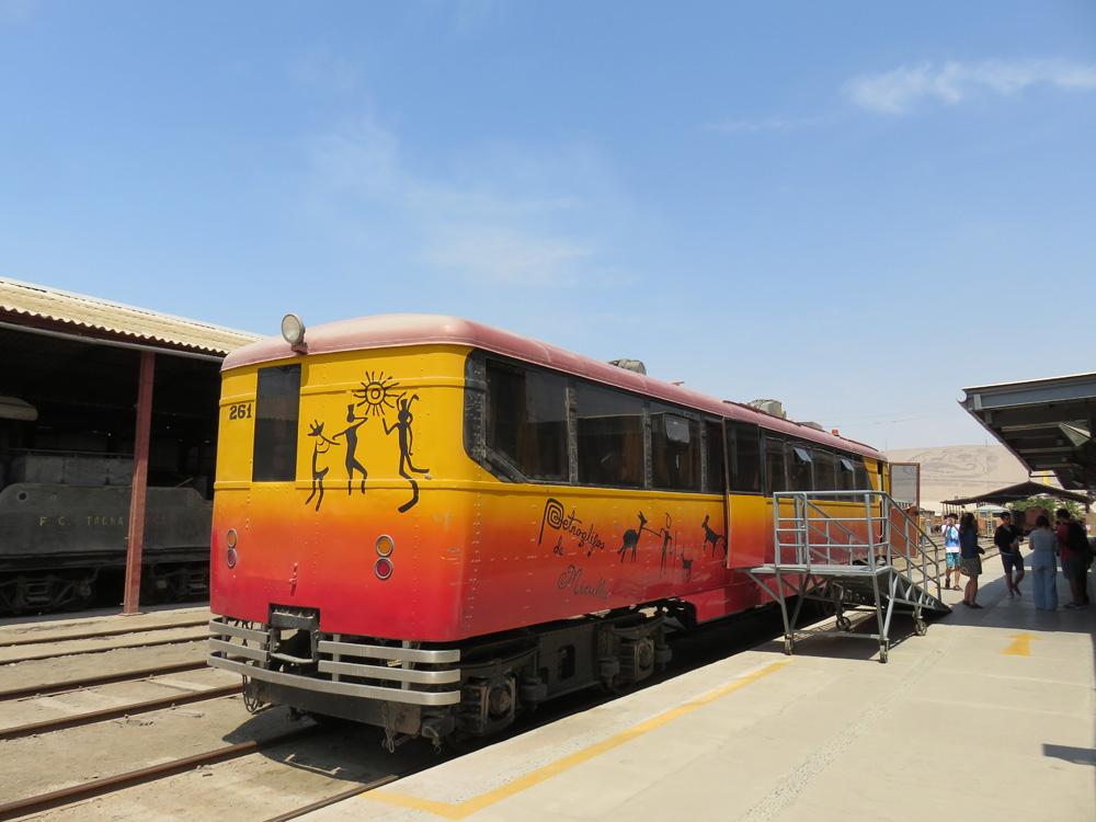アリカータクナ間を走っている鉄道