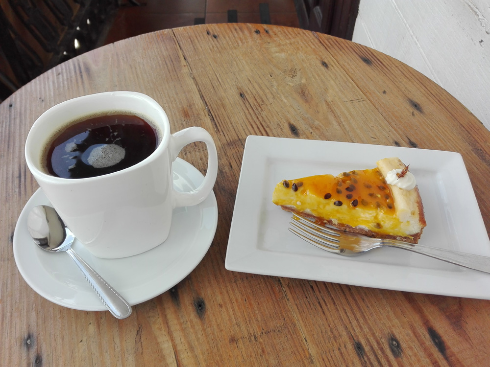 アレキパのカフェChaqchao Chocolatesのコーヒー