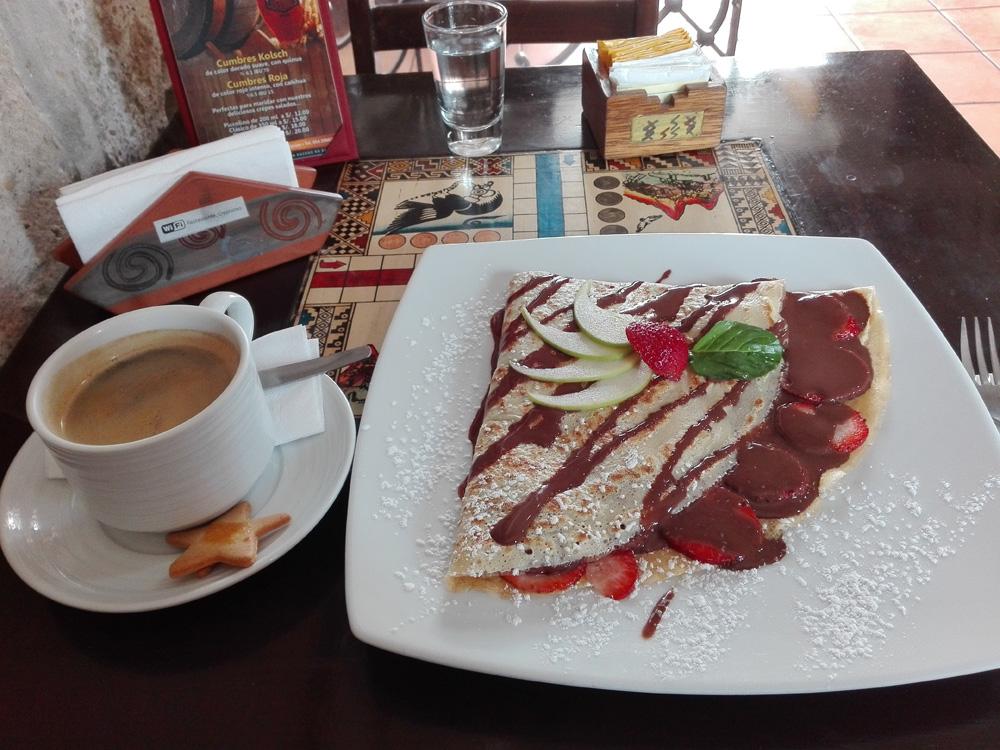 アレキパのカフェCrepisimo Creperieのコーヒー