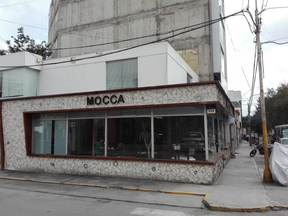 アレキパのカフェMocca