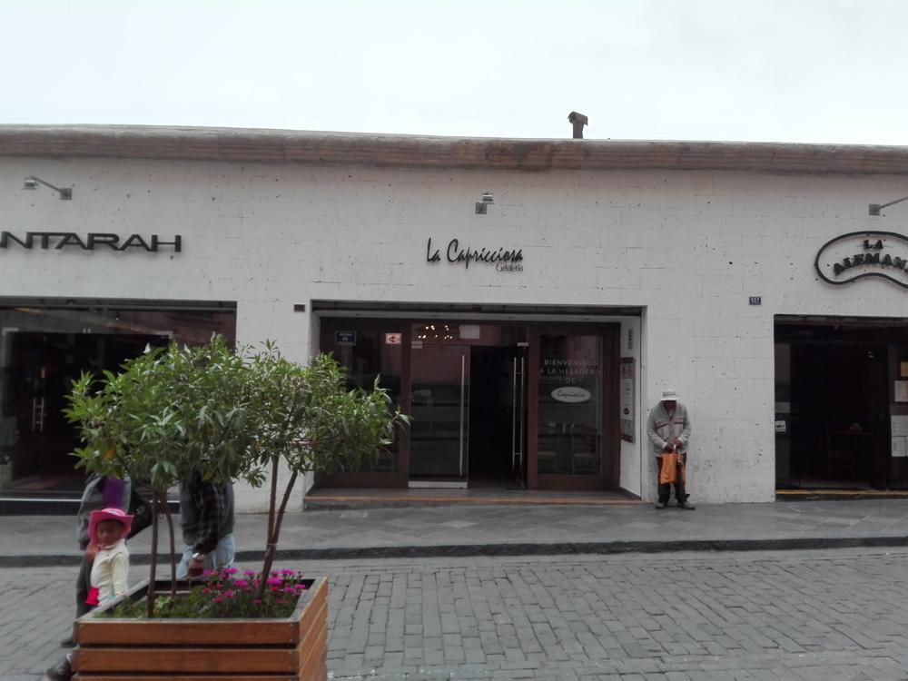 アレキパのカフェLa Capricciosa