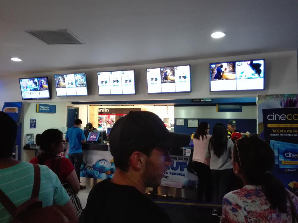 グアテマラシティの映画館の様子