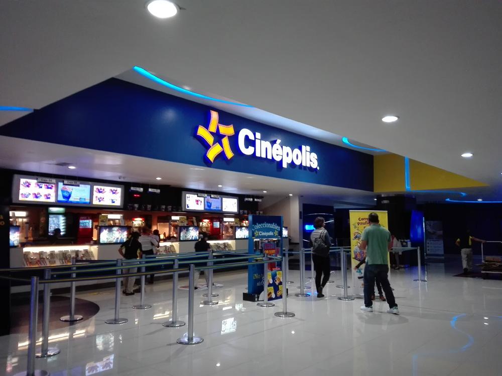 グアテマラシティの映画館の売店