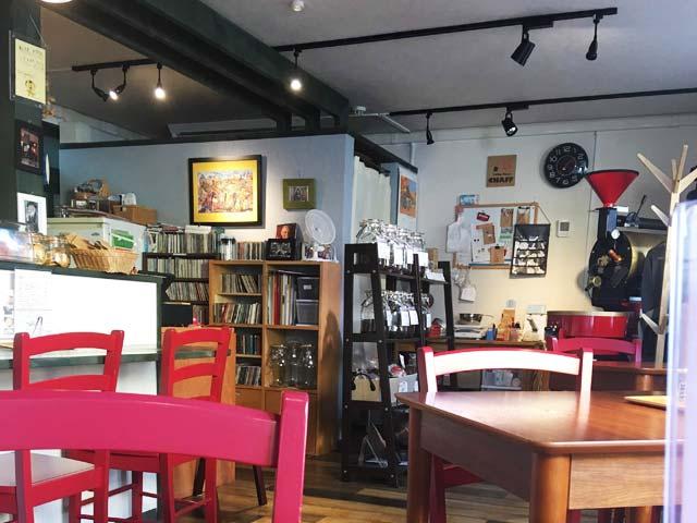 小樽Coffee House CHAFFカフェ内の様子